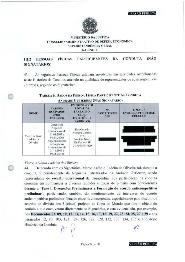 VERSÃO PÚBLICA MINISTÉRIO DA JUSTIÇA CONSELHO ADMINISTRATIVO DE DEFESA ECONÔMICA SUPERINTENDÊNCIA-GERAL GABINETE III.2 PES...