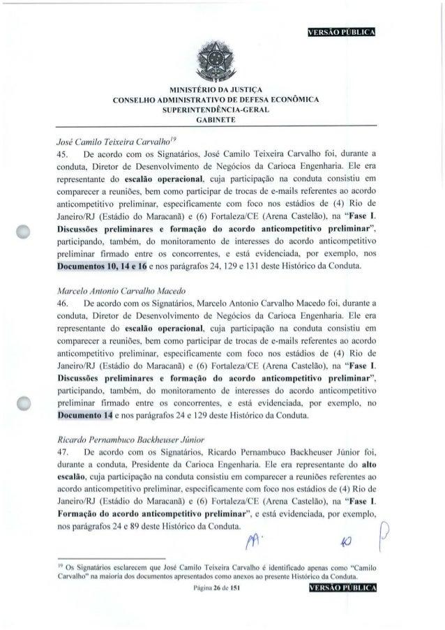 VERSÃO PUBLICA O MINISTÉRIO DA JUSTIÇA CONSELHO ADMINISTRATIVO DE DEFESA ECONÔMICA SUPERINTENDÊNCIA-GERAL GABINETE José Ca...