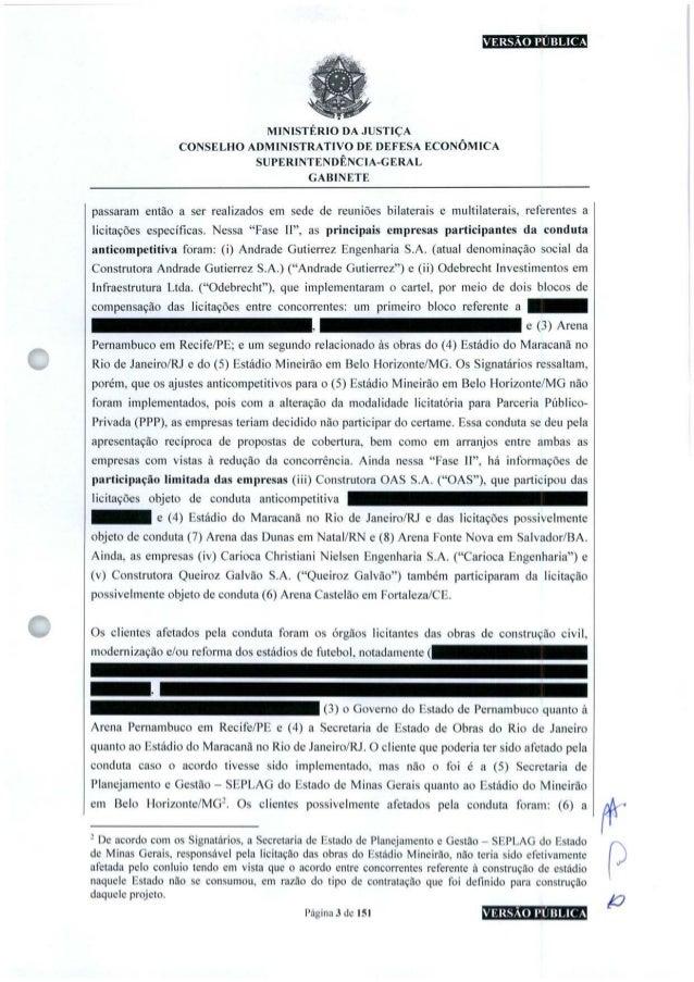 VERSÃO PUBLICA MINISTÉRIO DA JUSTIÇA CONSELHO ADMINISTRATIVO DE DEFESA ECONÔMICA SUPERINTENDÊNCIA-GERAL GABINETE passaram ...