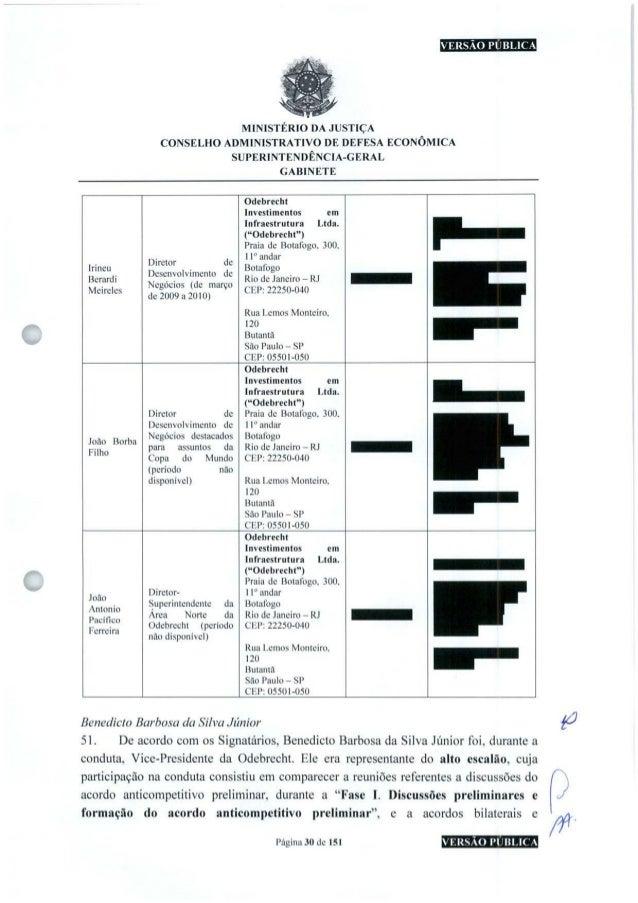 VERSÃO PUBLICA MINISTÉRIO DA JUSTIÇA CONSELHO ADMINISTRATIVO DE DEFESA ECONÔMICA SUPERINTENDÊNCIA-GERAL GABINETE Irineu Be...