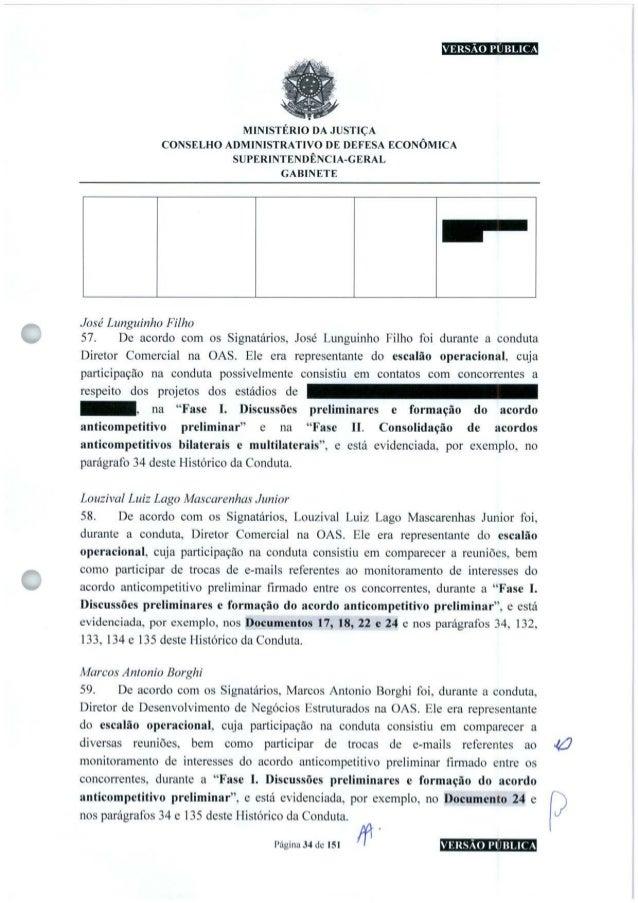 VERSÃO PUBLICA MINISTÉRIO DA JUSTIÇA CONSELHO ADMINISTRATIVO DE DEFESA ECONÔMICA SUPERINTENDÊNCIA-GERAL GABINETE José Lung...