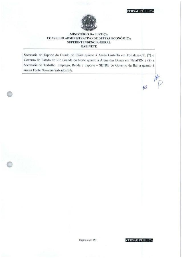 VERSÃO PUBLICA MINISTÉRIO DA JUSTIÇA CONSELHO ADMINISTRATIVO DE DEFESA ECONÔMICA SUPERINTENDÊNCIA-GERAL GABINETE Secretari...
