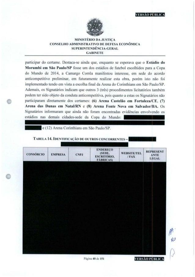 MINISTÉRIO DA JUSTIÇA CONSELHO ADMINISTRATIVO DE DEFESA ECONÔMICA SUPERINTENDÊNCIA-GERAL GABINETE participar do certame. D...