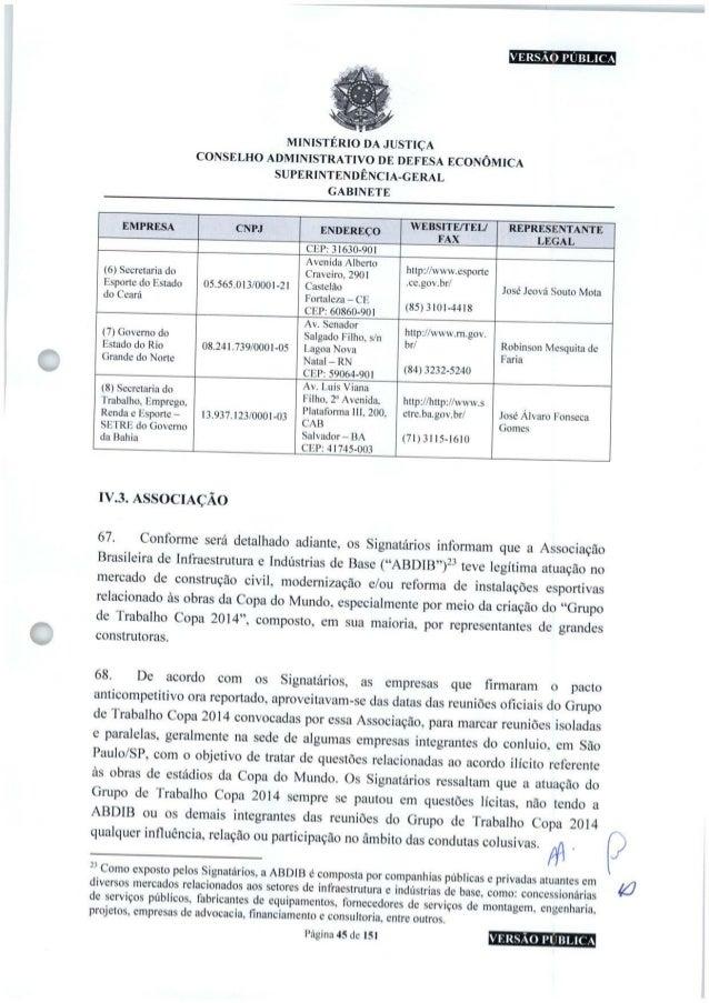 VERSÃO PÚBLICA MINISTÉRIO DA JUSTIÇA CONSELHO ADMINISTRATIVO DE DEFESA ECONÔMICA SUPERINTENDÊNCIA-GERAL GABINETE empresa C...