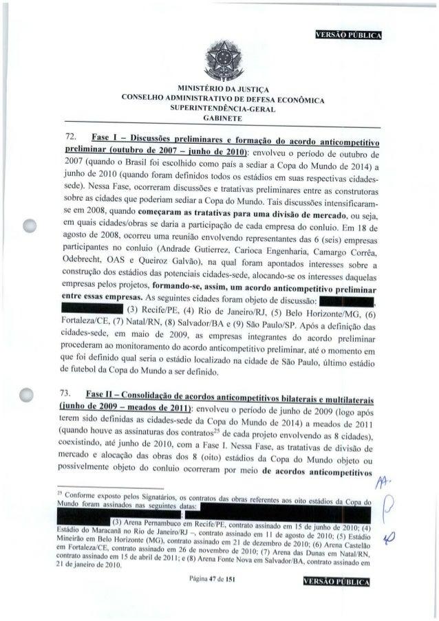 VERSÃO PÚBLICA MINISTÉRIO DA JUSTIÇA CONSELHO ADMINISTRATIVO DE DEFESA ECONÔMICA SUPERINTENDÊNCIA-GERAL GABINETE Fase I - ...
