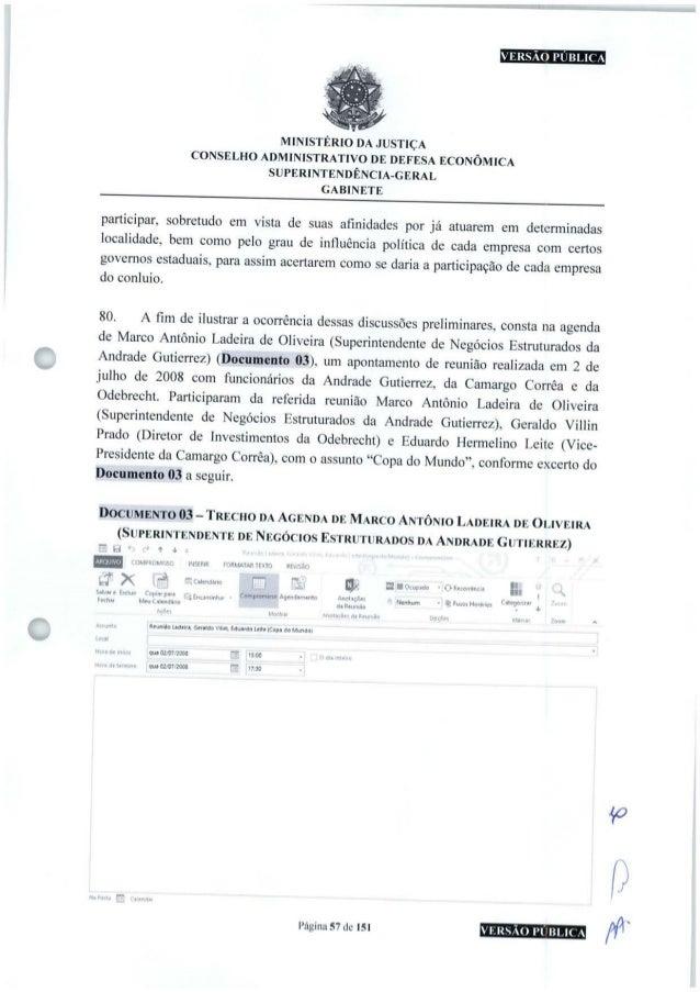 VERSÃO PÚBLICA MINISTÉRIO DA JUSTIÇA CONSELHO ADMINISTRATIVO DE DEFESA ECONÔMICA SUPERINTENDÊNCIA-GERAL GABINETE participa...
