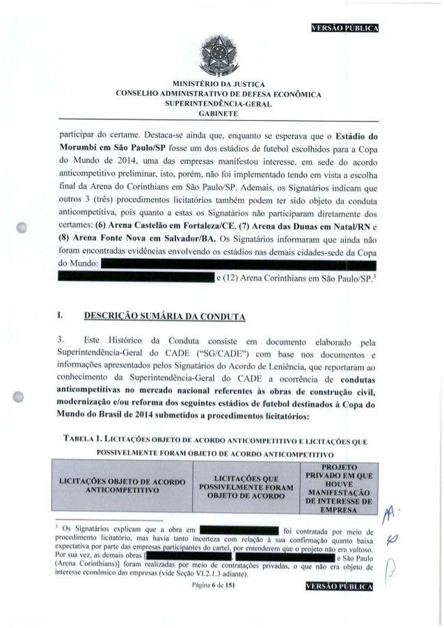 VERSÃO PUBLICA MINISTÉRIO DA JUSTIÇA CONSELHO ADMINISTRATIVO DE DEFESA ECONÔMICA SUPERINTENDÊNCIA-GERAL GABINETE participa...