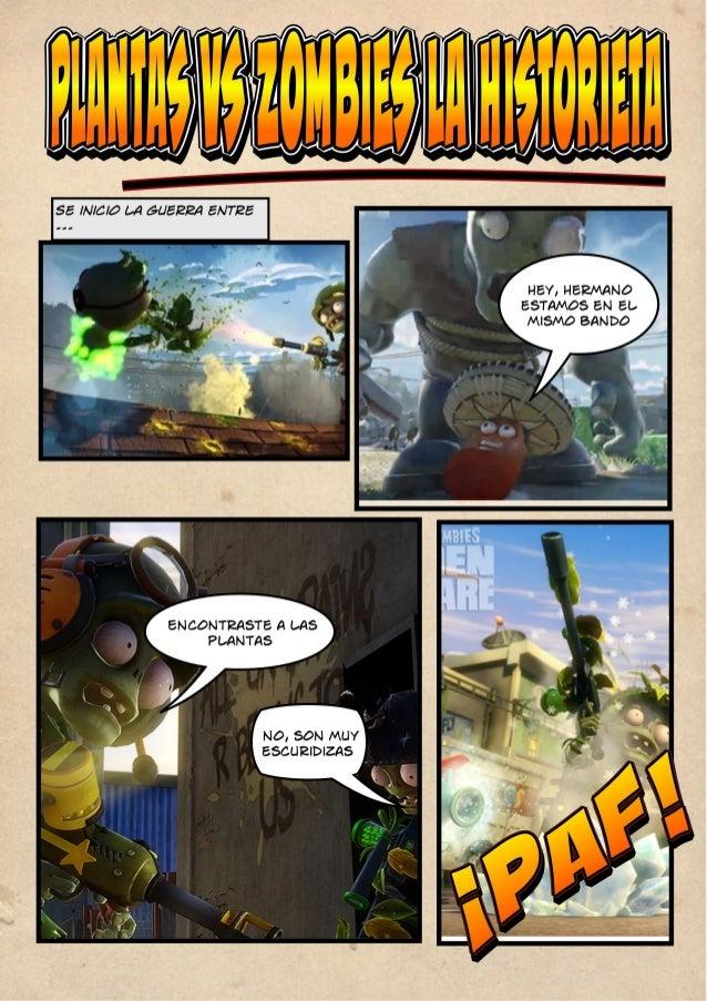 Historieta de plantas vs  zombies