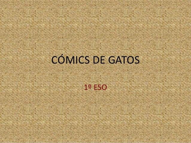 CÓMICS DE GATOS 1º ESO