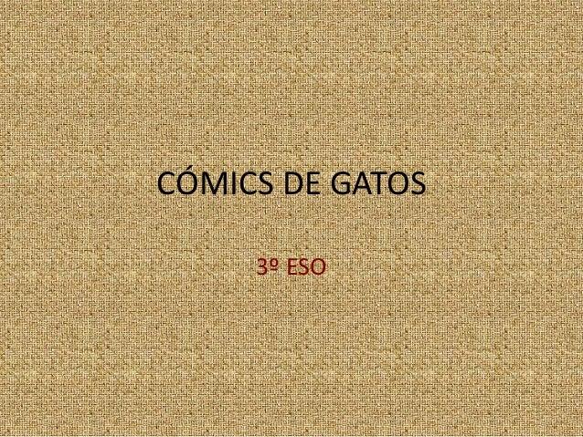 C�MICS DE GATOS 3� ESO