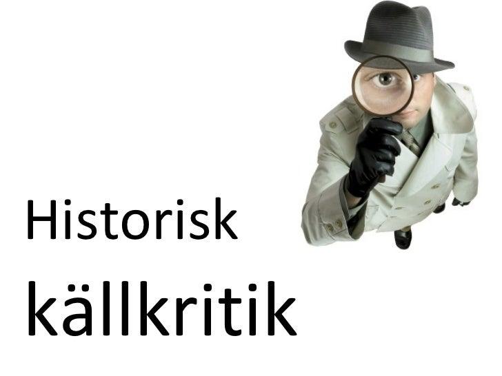 Historiskkällkritik
