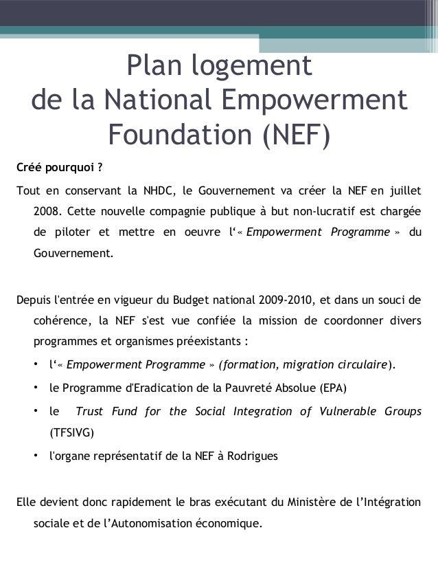 De plus, parallèlement à la création du NEF, il y a la création du CSR. Différents «schemes» pour la construction de log...