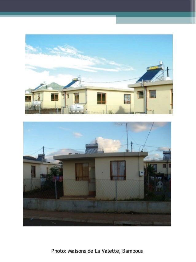 Integrated Social Development Programme - Gros Cailloux Type de logement Maison entourée d'un petit jardin, d'une superfic...