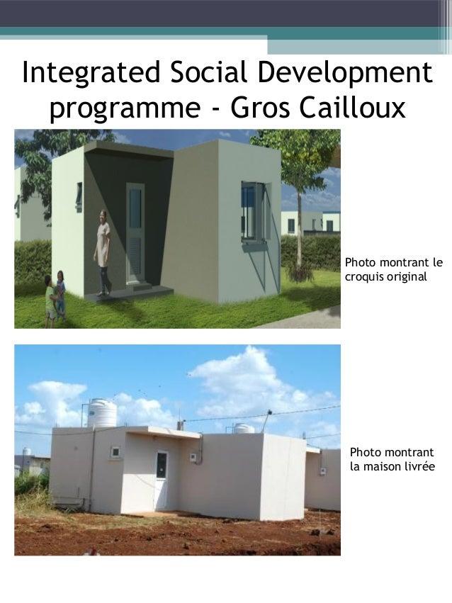 Integrated Social Development Programme - Sottise A Cité Lumière, à Sottise, le projet de la NEF de 19 maisonnettes en bét...