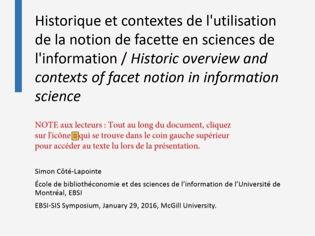 SimonCôté-Lapointe Écoledebibliothéconomieetdessciencesdel'informationdel'Universitéde Montréal,EBSI EBSI-SISSymposium,Jan...
