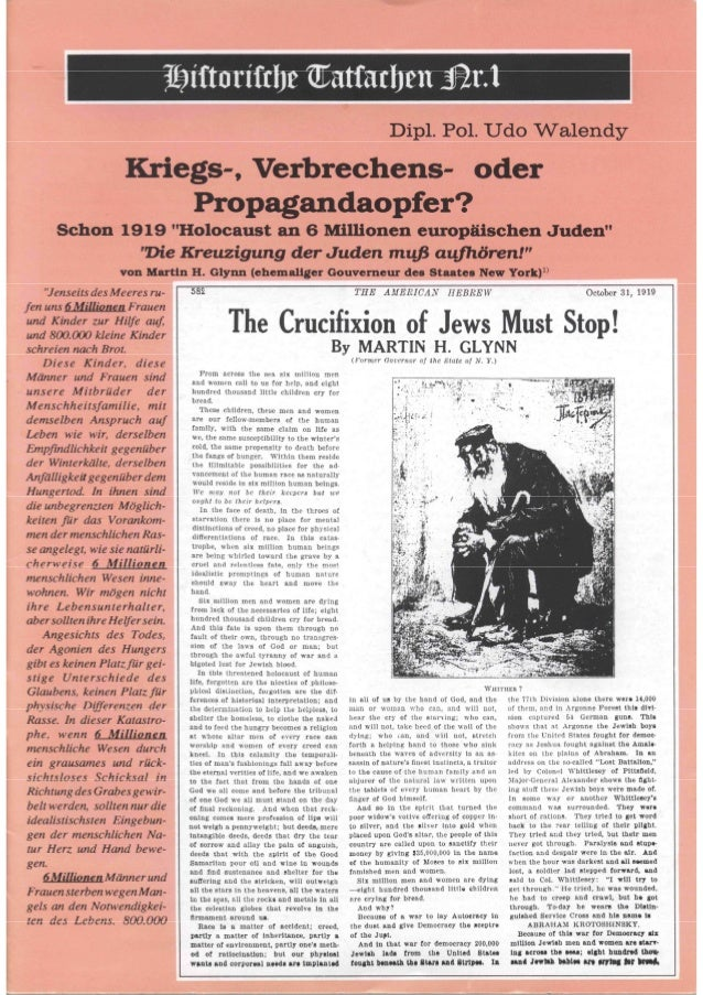-- Wissenschaftliches Sammelwerk -- Historische Tatsachen Nr. 1 Dipl. Pol. Udo Walendy Kriegs-, Verbrechens- oder Propagan...
