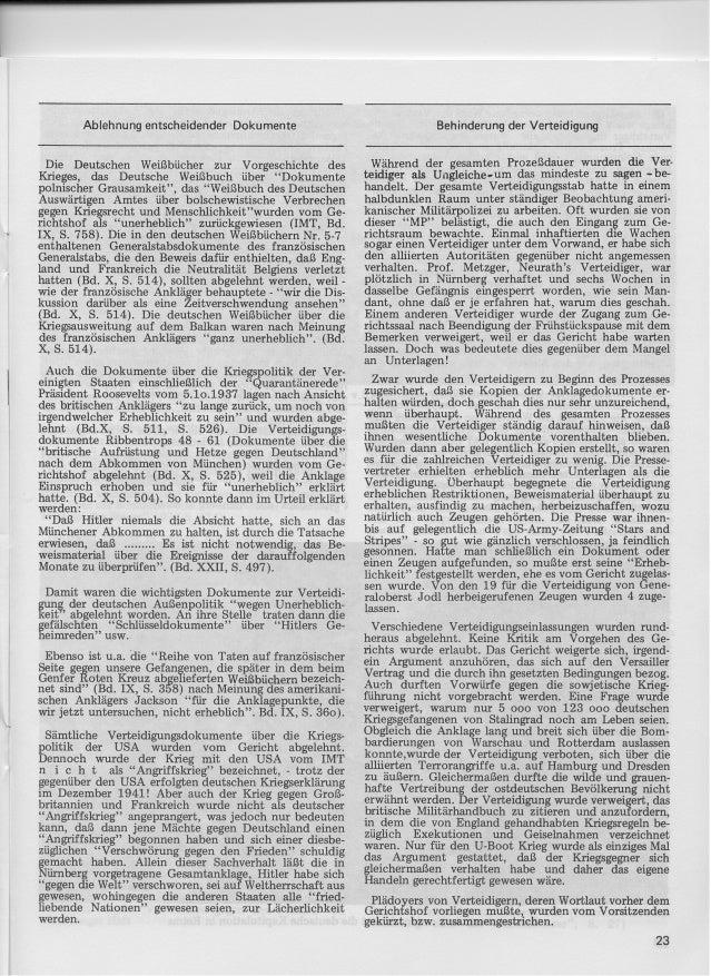 Historische tatsachen nr. 03 richard harwood - der-nurnberger prozess methoden und bedeutung