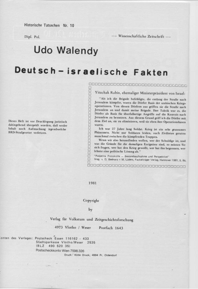 Historische tatsachen nr. 10 udo walendy deutsch-israelische fakten Slide 2