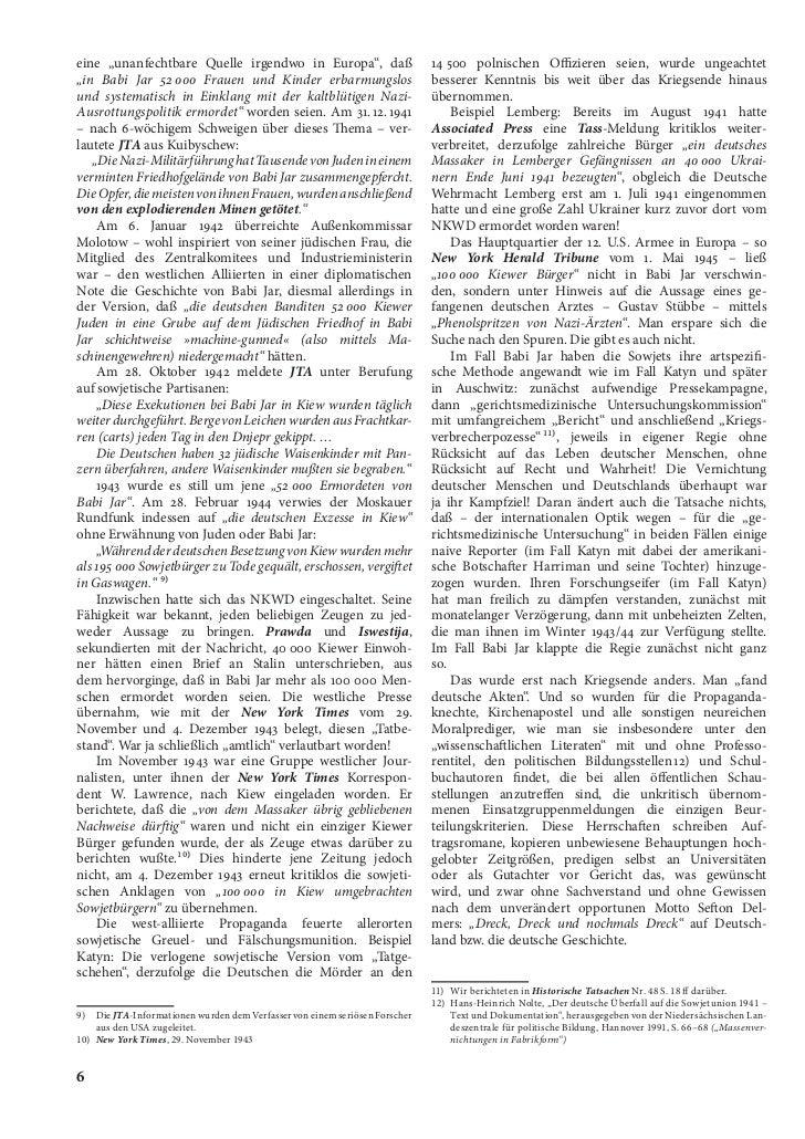 """eine """"unanfechtbare Quelle irgendwo in Europa"""", daß                          14 500 polnischen Offizieren seien, wurde ung..."""
