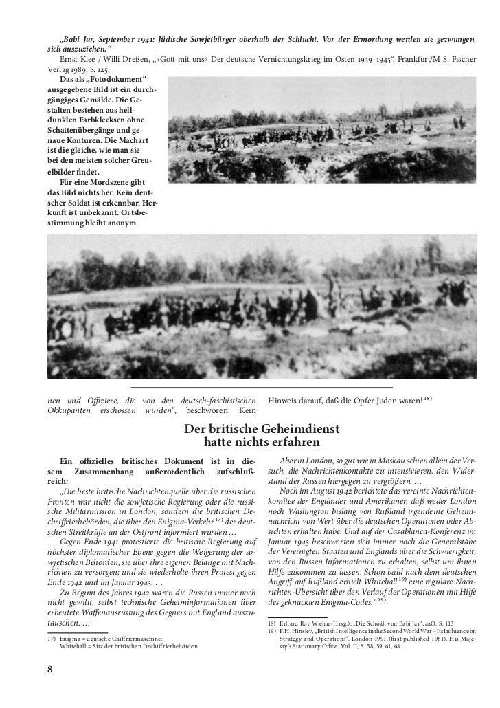 """""""Babi Jar, September 1941: Jüdische Sowjetbürger oberhalb der Schlucht. Vor der Ermordung werden sie gezwungen,sich auszuz..."""