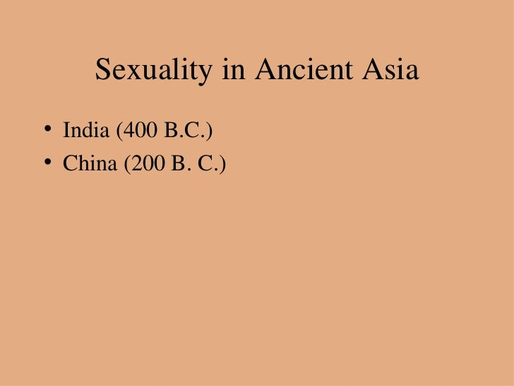 Early evolution of human sexuality