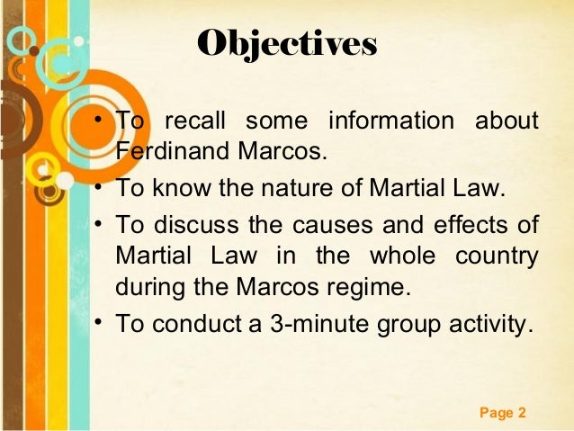 Marcos Regime in the Philippines - Martial Law Slide 2