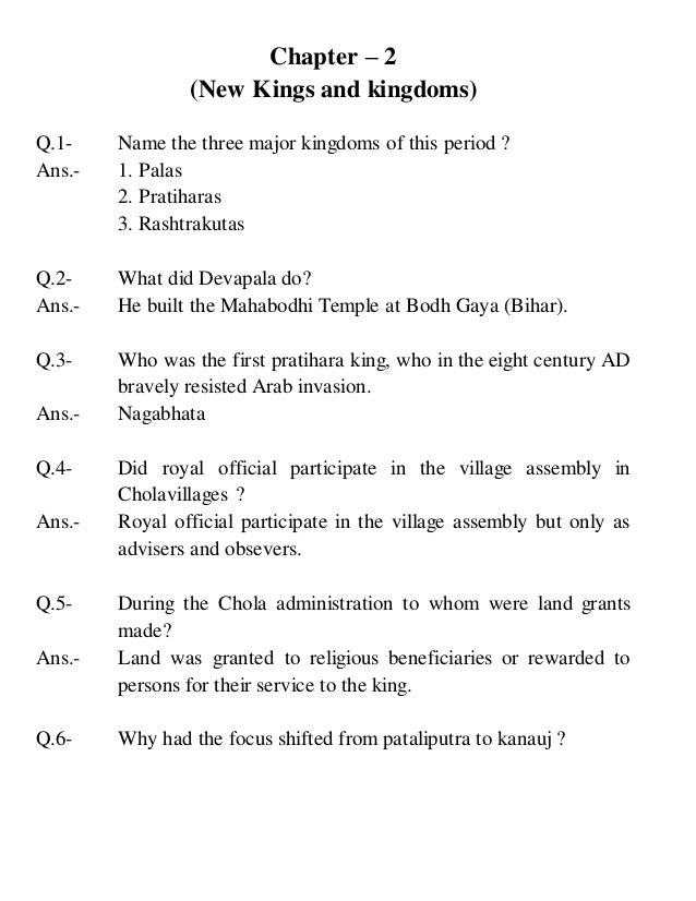 Cambridge social science, Class 7 History