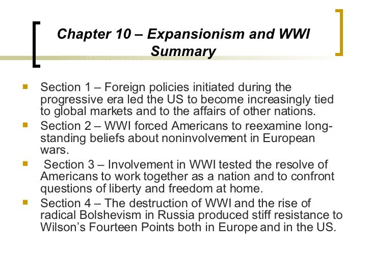 An overview of wilsons pronouncement and foreign policy