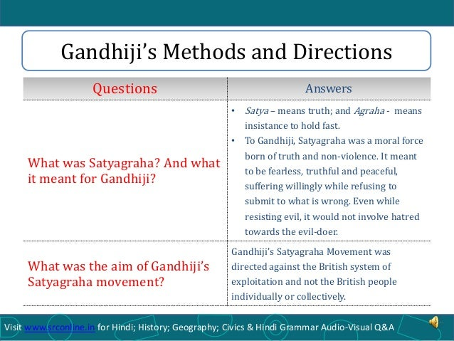 ICSE Class X History - Mahatma Gandhi and National Movement