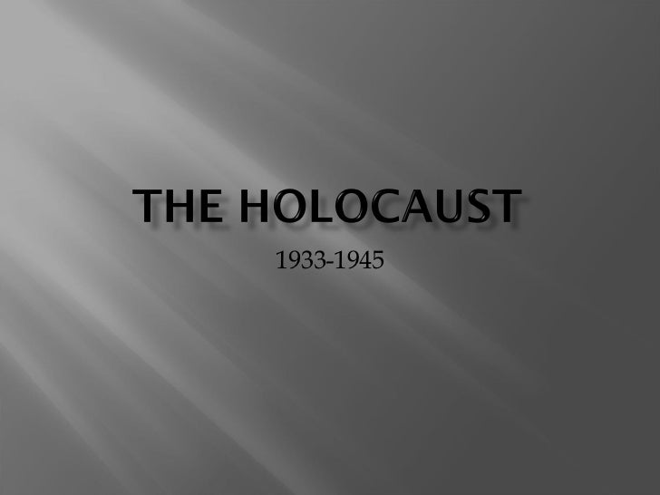 an introduction to the history of genocide and the holocaust The holocaust is one of the most notorious acts of genocide in modern history   introduction to the holocaust  to their plan to exterminate the jewish people,  although the origins of this are unclear, according to historians.