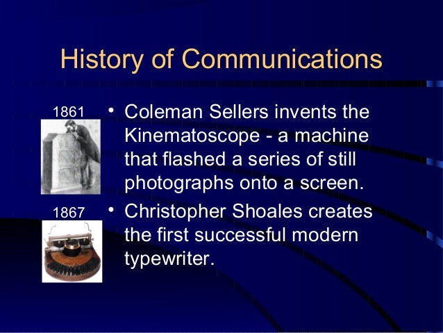Origin of communication from primitive to