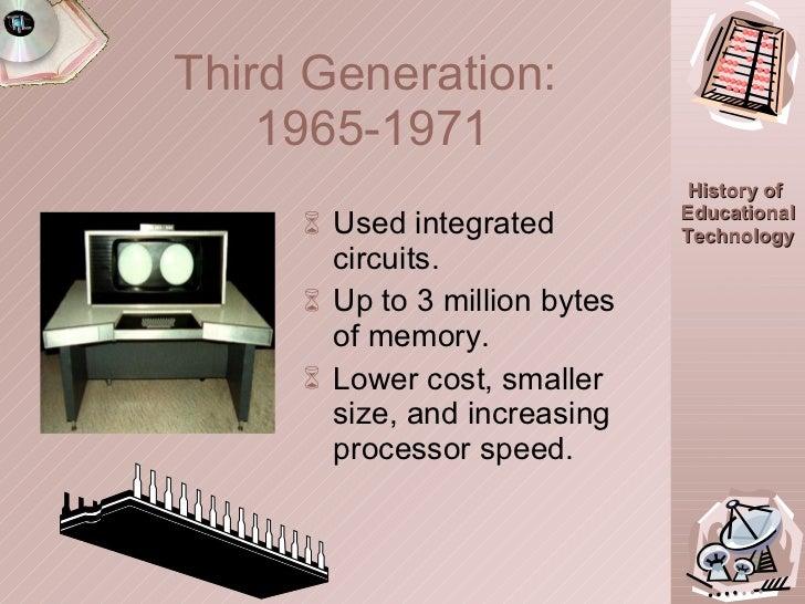 <ul><li>Used integrated circuits. </li></ul><ul><li>Up to 3 million bytes of memory. </li></ul><ul><li>Lower cost, smaller...