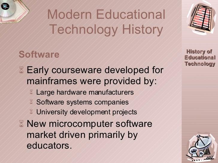 <ul><li>Early courseware developed for mainframes were provided by: </li></ul><ul><ul><li>Large hardware manufacturers </l...