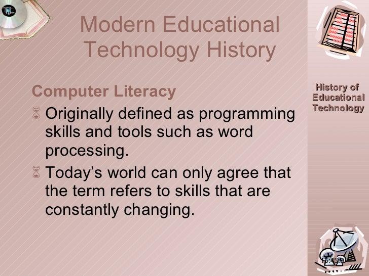 <ul><li>Computer Literacy  </li></ul><ul><li>Originally defined as programming skills and tools such as word processing. <...