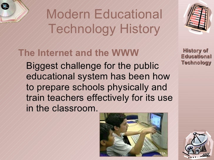 <ul><li>The Internet and the WWW </li></ul><ul><li>Biggest challenge for the public educational system has been how to pre...