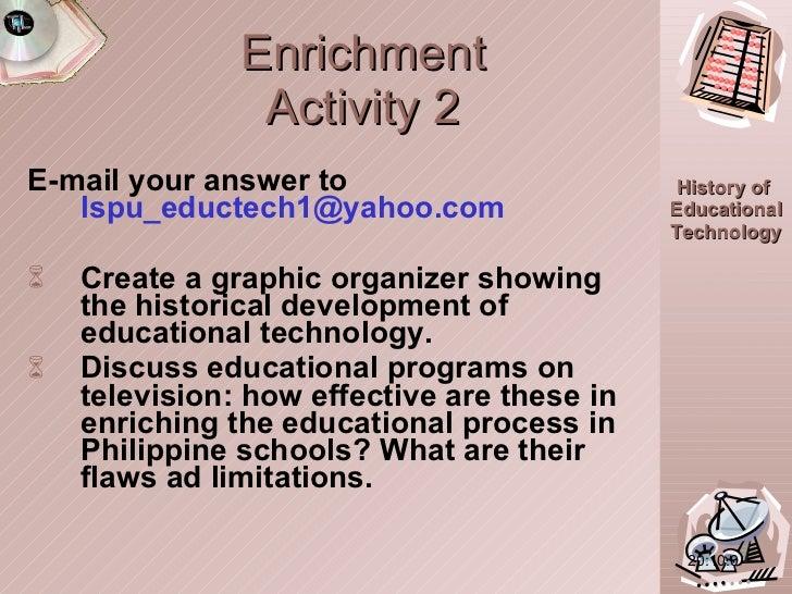 Enrichment Activity 2 <ul><li>E-mail your answer to  [email_address] </li></ul><ul><li>Create a graphic organizer showing ...