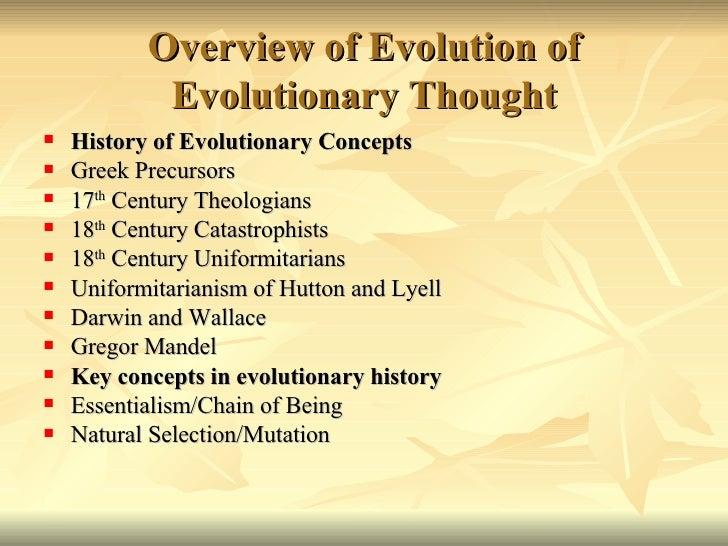 History of Evolution