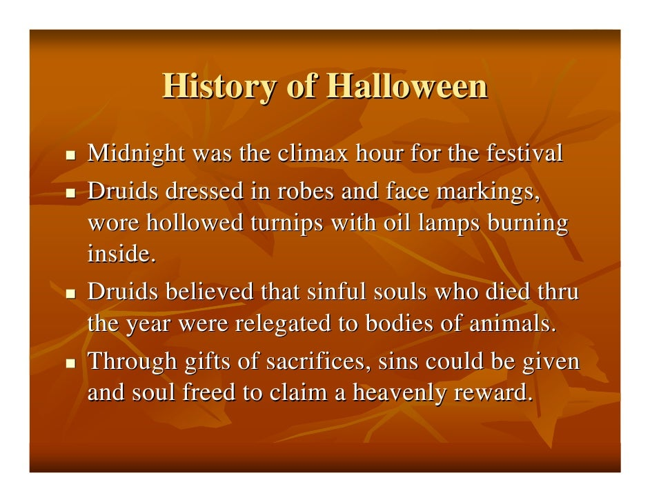 History Of Halloween