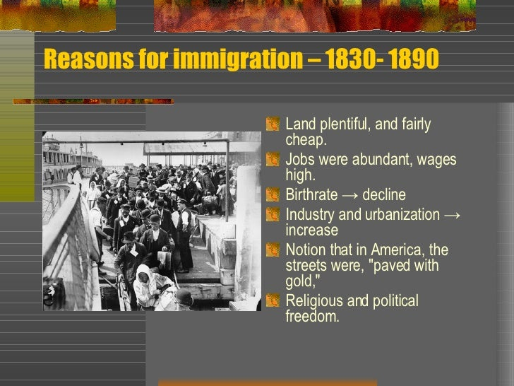 American Immigration 1607-1830 Essay