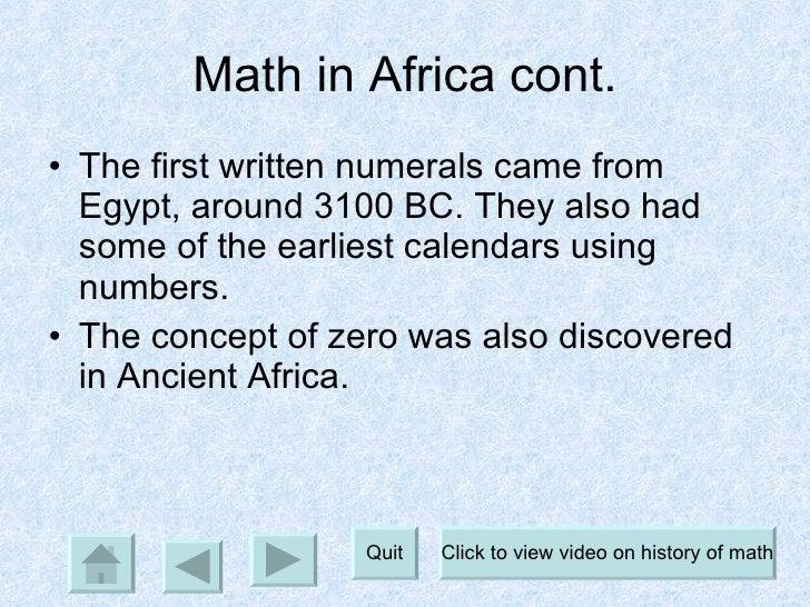 A history of math