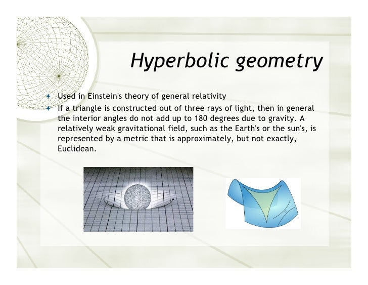 geometry essay Spherical geometry danielle frailey spherical geometry in history at the time when earth was discovered to be round rather than flat, spherical geometry.