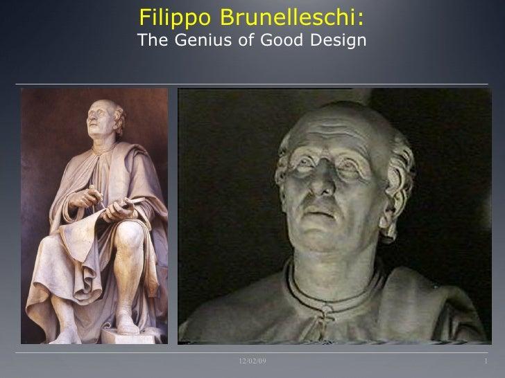 Filippo Brunelleschi: The Genius of Good Design 06/07/09