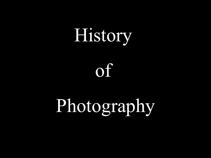History Of Photography Presentation