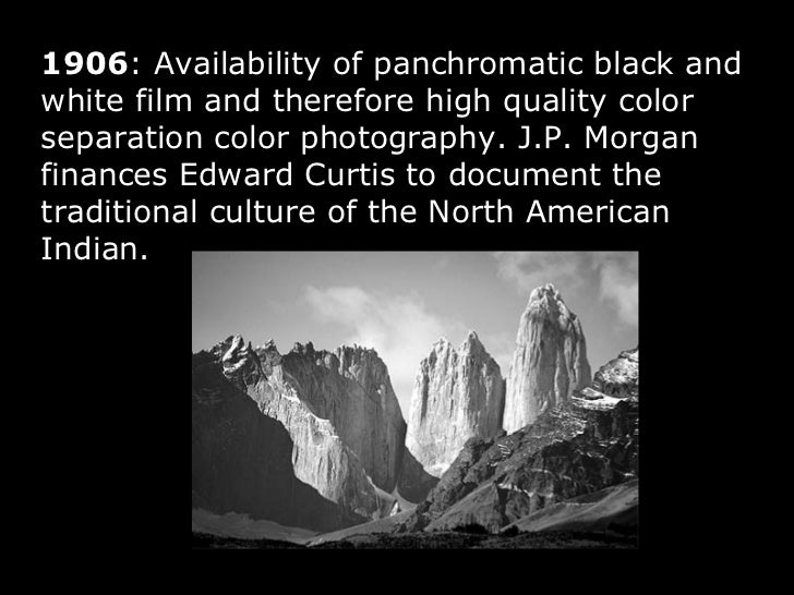 46 1906 availability of panchromatic black and white film