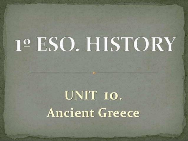 UNIT 10. Ancient Greece
