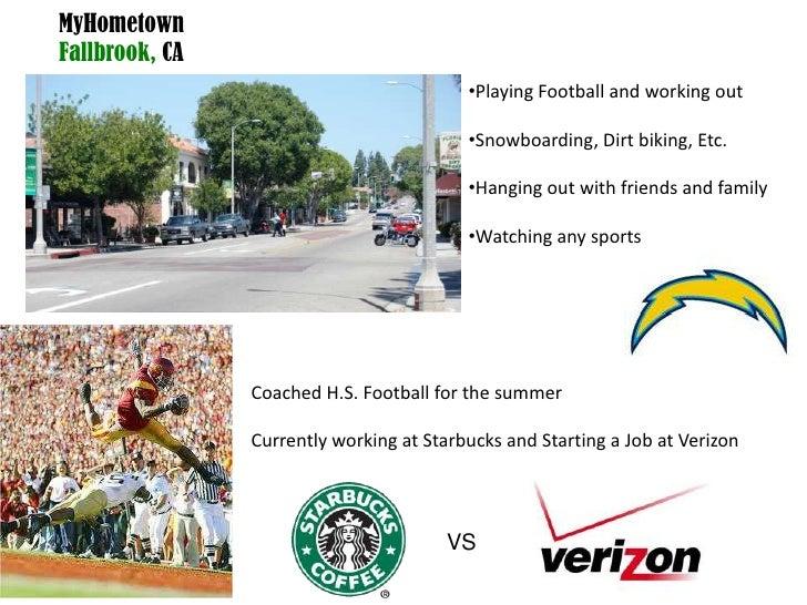 MyHometownFallbrook, CA<br /><ul><li>Playing Football and working out