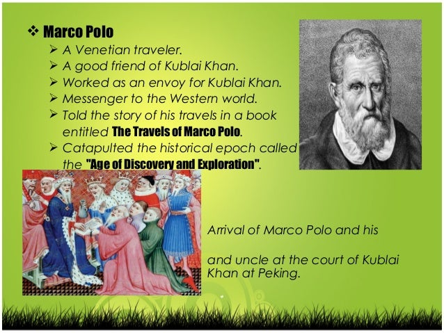 historical recount marco polo and his How historically accurate is the new marco polo series polo would be a serious period piece rich with historical detail about his life not naked kung fu.