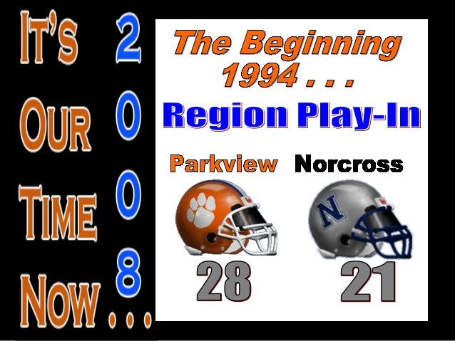 History of Parkview Football Playoffs