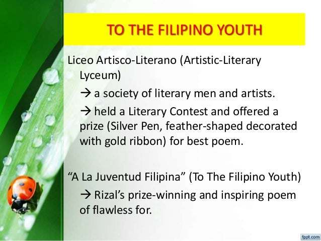 Peoples reflection on a la juventud of rizal