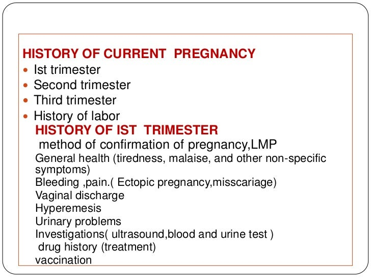 History And Clinical Examination In Obstetrics